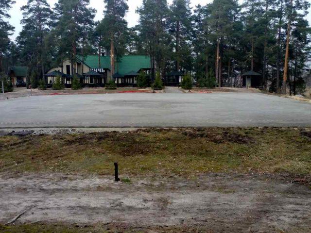 Ход работ строительства спортивной площадки на примере: Подготовка основания