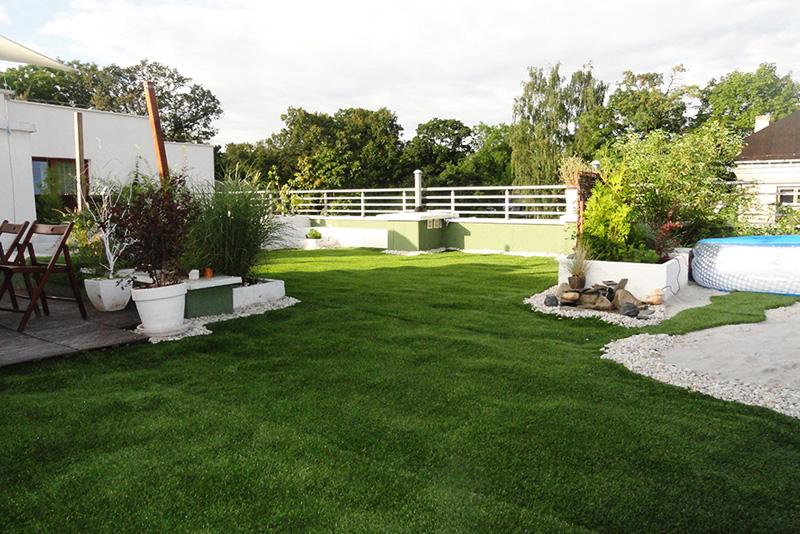 Искусственный газон в ландшафтном дизайне