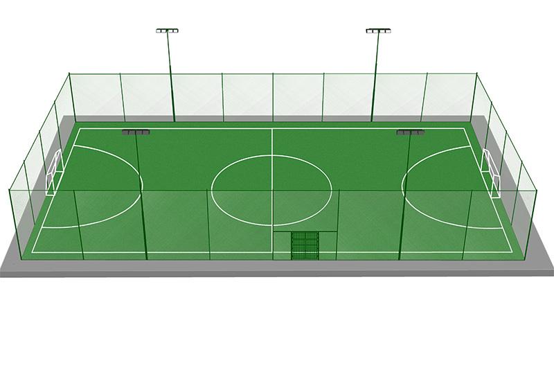 Проект футбольного поля на территории компании Агромат в Киеве