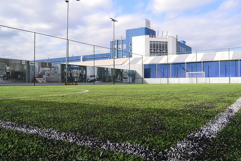 Футбольная площадка на территории компании Агромат в Киеве