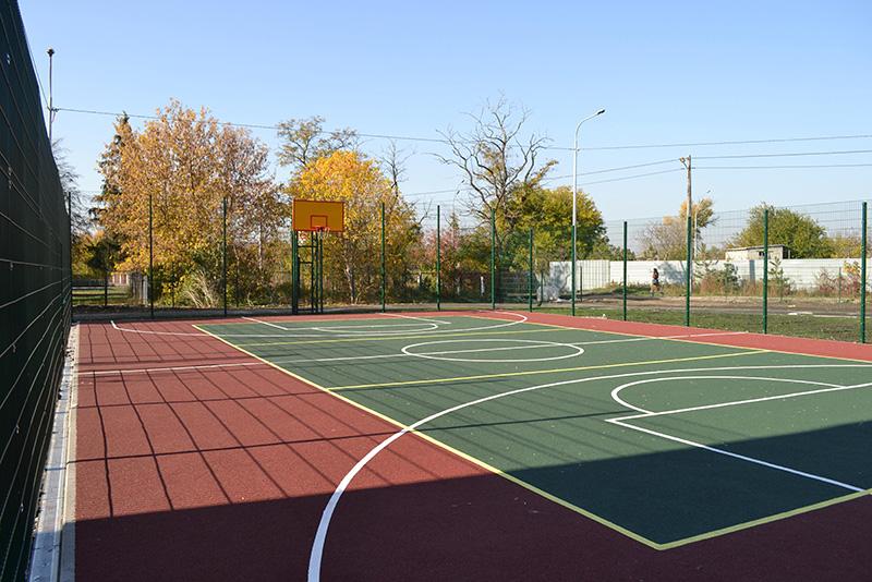 Монтаж спортивной площадки в Голосеевском районе Киева