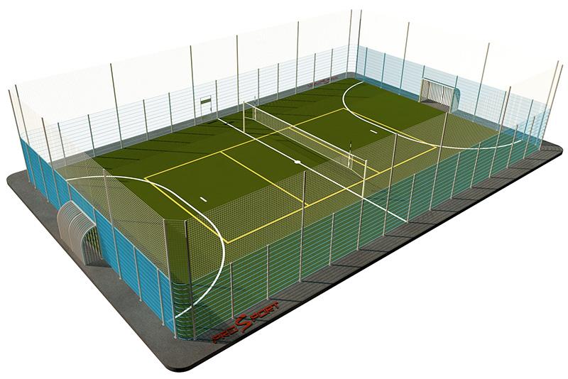 Типовая спортивная площадка 0003. Универсальная площадка 18х30