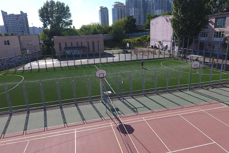 Монтаж футбольной площадки по ул. М. Бойчука, Спортивный комплекс НТУ