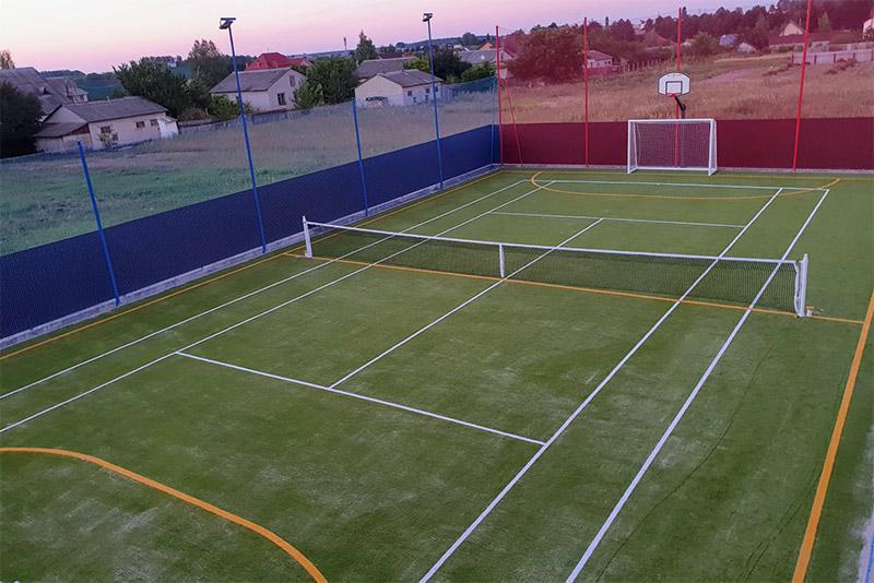 Строительство универсальной спортивной площадки компанией Pro-Sport