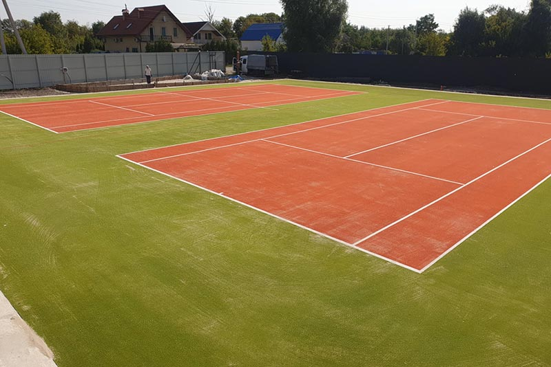 Теннисные корты в посёлке Пидгирцы Обуховский район