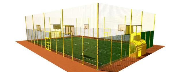 Ограждение и освещение спортивных площадок