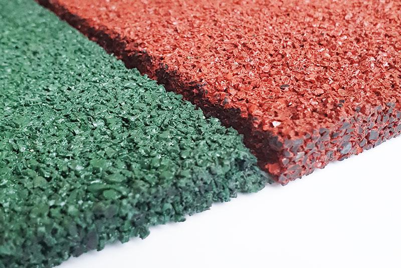 Резиновое однослойное покрытие толщиной 15 мм для спортивных площадок