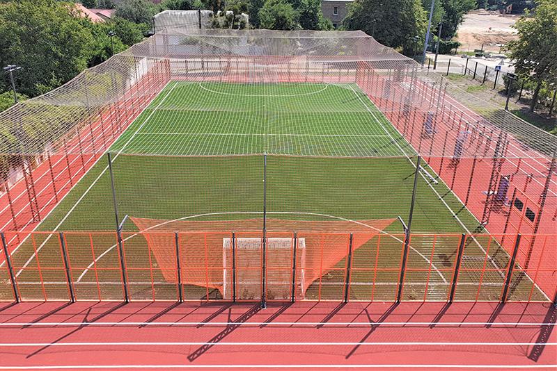 Cтроительство футбольных площадок под ключ, гимназия №59 Киев